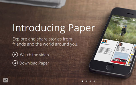 Facebook Paper Style Slider Template
